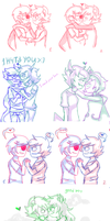 homestuck ships sketches by Lelka-Philka