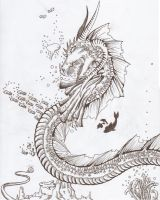 Really OLD Sea Dragon by DrawWithLaura