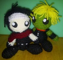 Wiccan and Hulkling Crochet Dolls by Demon-of-Laplace