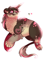 Pandacorn Hearts and Sparkles Auction by Fenny-Fang