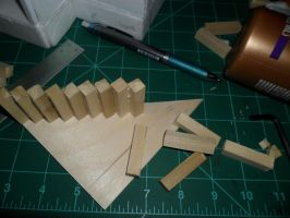 1:24 scale stairs for new dollhouse by kayanah