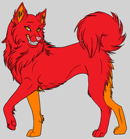 Fire Husky Adopt by strawberrysky1185