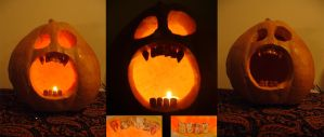 Pumpkin with clay teeth by The-grimm-reeper