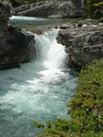 Elbow Falls and Emerald Waters by Sybaristail