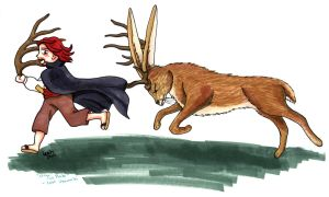 Shanks and the Jackalope by Lillikira