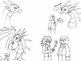 SP:ToD-Bond of a Human and a Time Dragon sketches by ShardianofWhiteFire