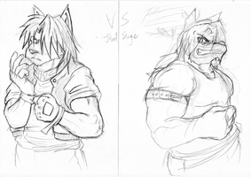 VS +sketch+ by WerewolfMax