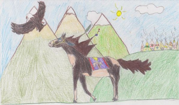 Native American Horse by wildwolf2