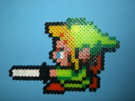 Hama/Perler Link with Sword by davedudedead