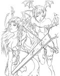 Morrigan and Lilith inked by Jbellcomics by GillespieSmiles