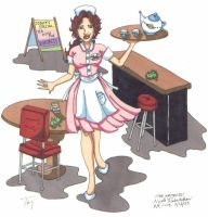 The Waitress by CrystallineColey