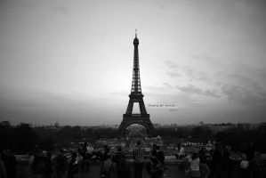 "Paris, Je T'aime ""BW"" by 7ayat"