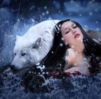 The Wolf and The Maiden by Fae-Melie-Melusine