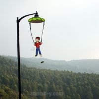 stuck parachutist by moslem-d