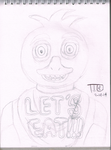 Chica The Creepy Chicken by TipToeDynamo