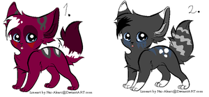Wolf pack adoptables 4 SOLD by Snowies-adoptables