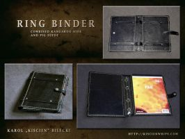 Handmade ring binder by Kiscien