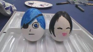 Black Butler Easter Eggs! by applereaper8499