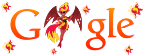 Sunset Shimmer Demon Google Logo (Install Guide!) by Owl-Parchment