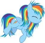 Rainbow Dash Nap by uxyd