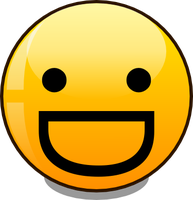 basic smiley broad grin (vector) by mondspeer