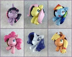 My Little Pony Pop-Out Buttons by LeiliaK