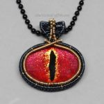 Red Dragon Eye Necklace by Gailavira