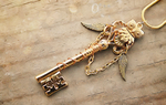 Golden Royal Owl Key by MythicalFolk