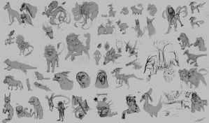 Animal and character studies 1 by Autlaw