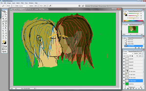 WIP 2- Miki and Porter by Alucard-Dracula01