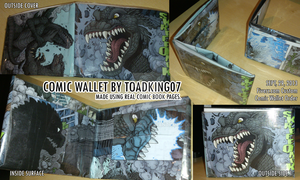 Godzilla Comic Waller Display 2 by toadking07
