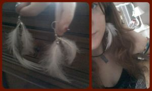 Pheasant Feather Earrings by EllasDesigns