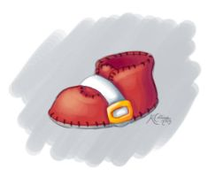 Sonic Baby Bootie by TricksyPixel