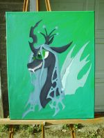 Queen Chrysalis  in Acrylics by Deshera