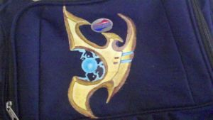 Protoss logo on bag by GamingArtForYou