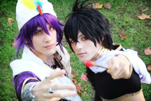 Magic! Sinbad and Judal by hakucosplay
