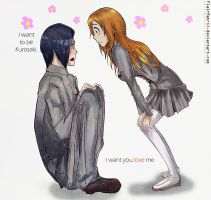 Ishida and Orihime by FlairMatriX