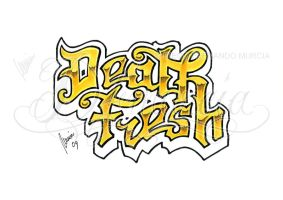 Death Fresh lettering -gold- by dfmurcia