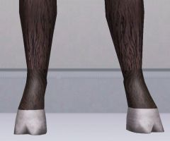 Sims 3 Custom Satyr Feet by CamKitty2