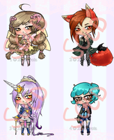 Adoptables set 3 Sold Out by XakiNyota