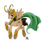 Loki Pony by dragonnova
