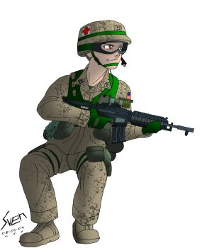 Anime BF2 USMC soldier by Panzerfire