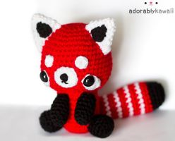 Red Panda Plush 2 by adorablykawaii
