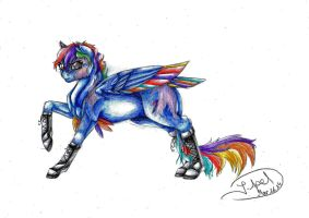 MLP S.I.A.-Rainbow Dash by ArtmadebyRed