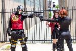 Deadshot vs. Black Widow and Scarlet Witch by ohRocco