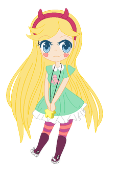 Colored Star :Flat color: by Beautiful-Evanescent