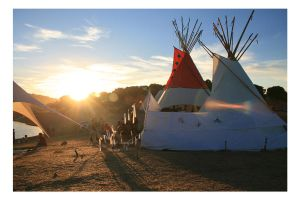 .: Sunset At Indian Teepees :. by Zugo