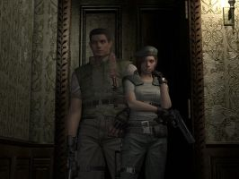 Resident Evil Remake Chris and Jill by juniorbunny