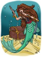 Commission: Pirate Mermaid by ProdigyDuck
