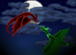 Dragon fight by Samantha-8